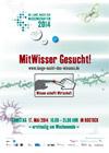 Ankündigungsplakat 11. Lange Nacht der Wissenschaften 2014 in der Hansestadt Rostock